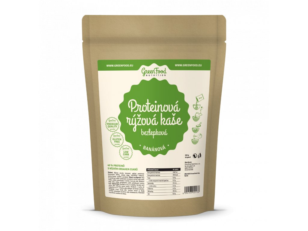 greenfood nutrition proteinova ryzova kase bezlepkova bananova