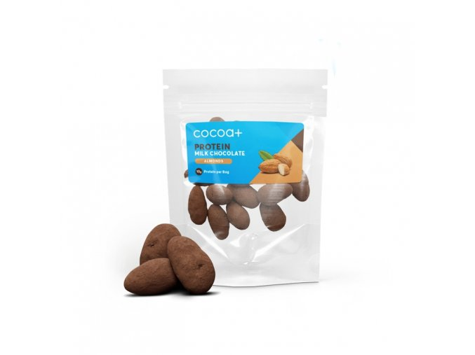 cocoa plus high protein chocolate coated almonds