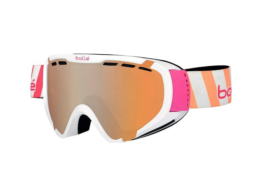 Brýle J Bollé EXPLORER, shiny white stripes, citrus gun