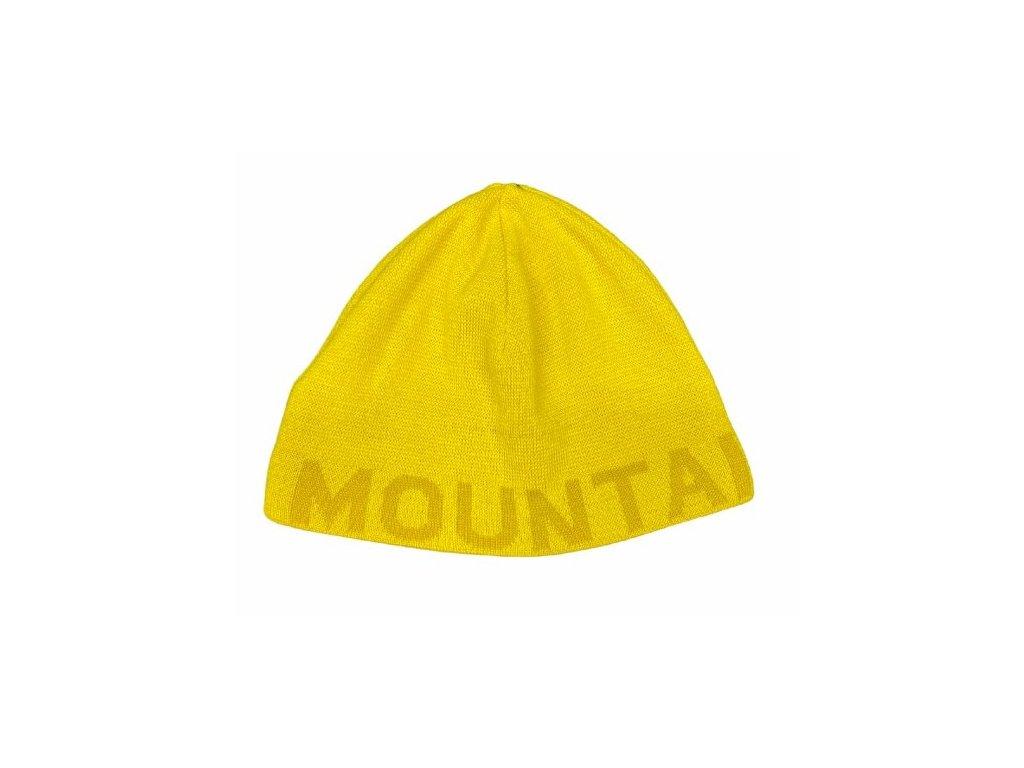 Čepice Mountain Force SERIFA BEANIE, yellow