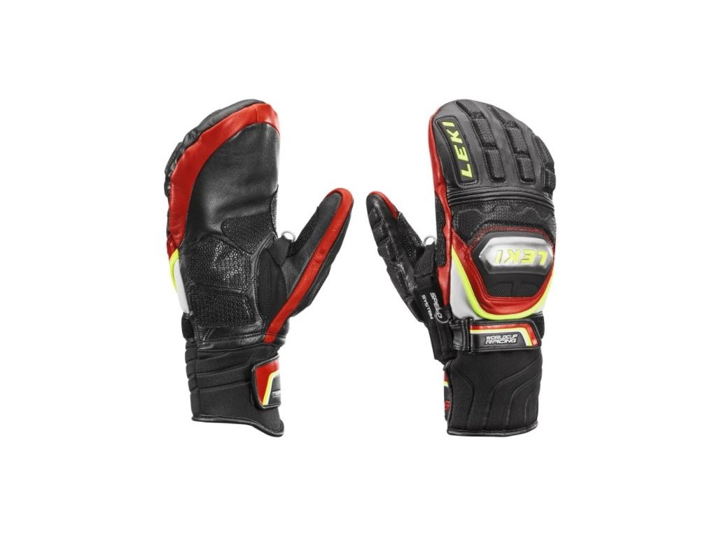 Pánské rukavice Leki WC RACE TI S MITTEN SPEED SYS., black/red/white/yellow