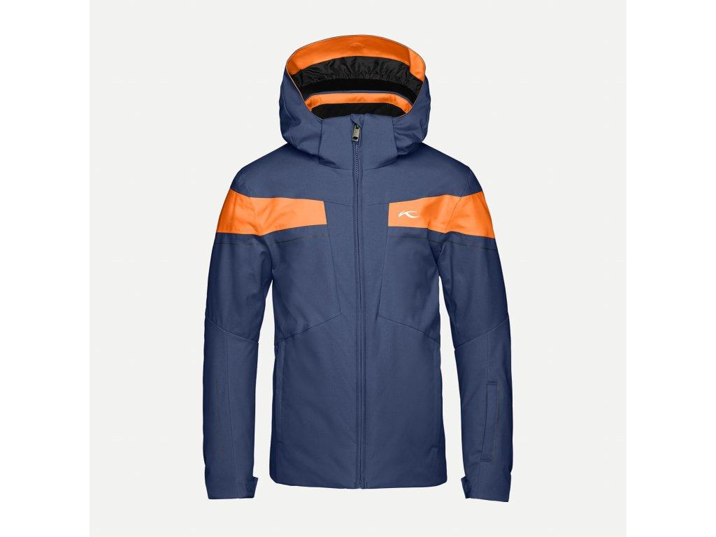 Bunda Kjus BOYS CORBET JACKET, atlanta blue orange