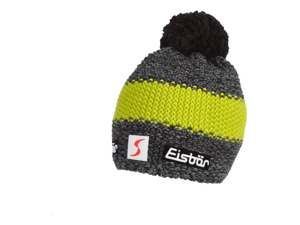 Čepice Eisbär STYLER POMPON MÜ SP šedá žlutá