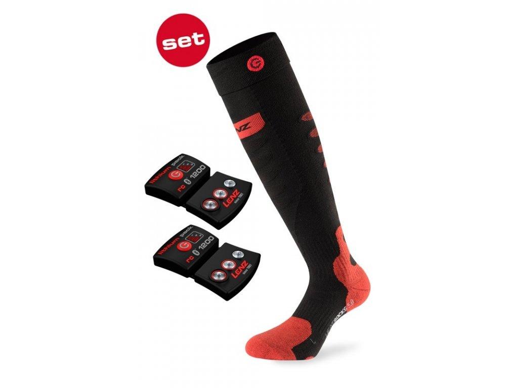 Ponožky vyhřívané Lenz HEAT SOCK 5.0 TOE CAP+lithium pack rcB1200