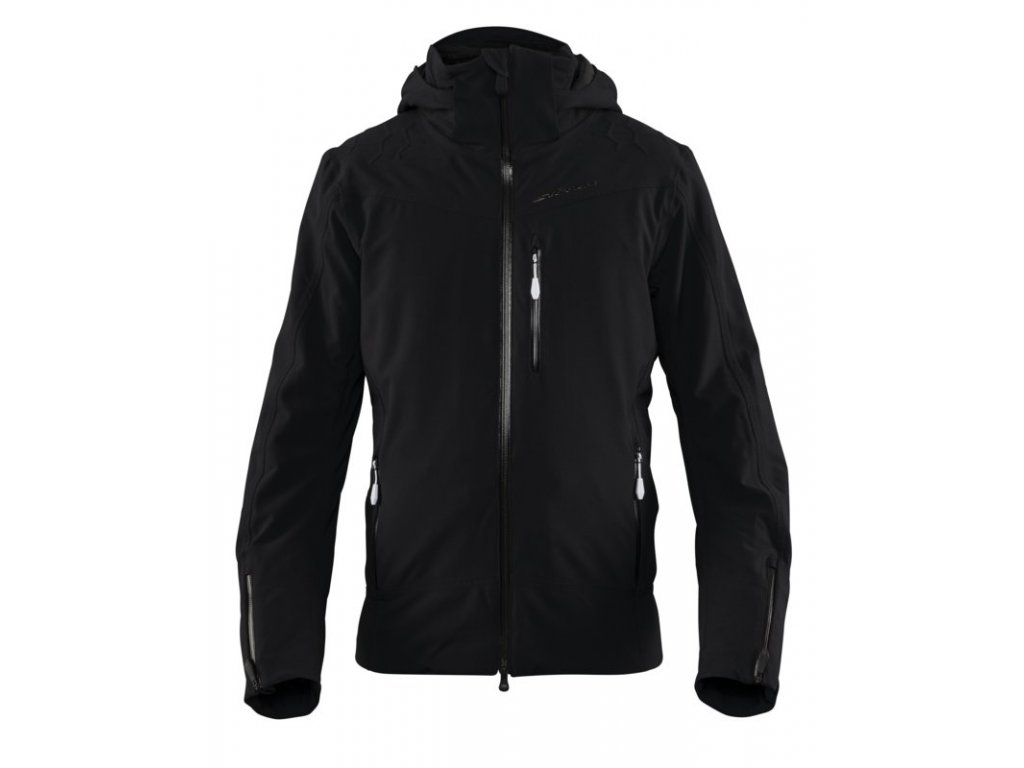 Bunda Stöckli SKIJACKET SCALE PINSTRIPE, black