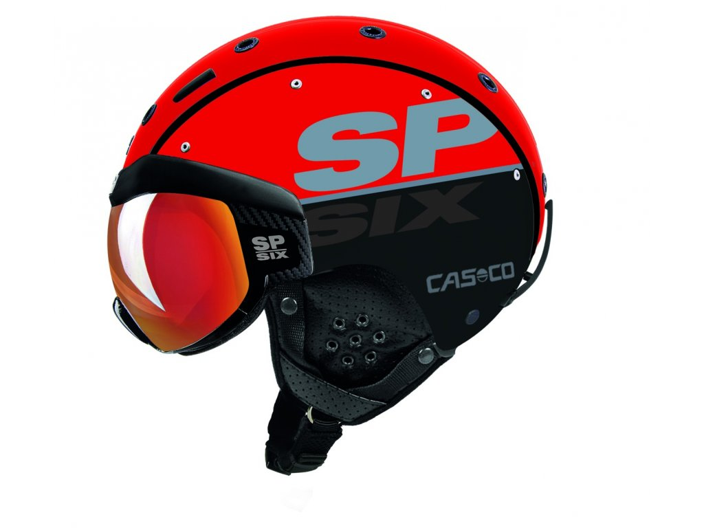Helma Casco SP 6 VISOR red black