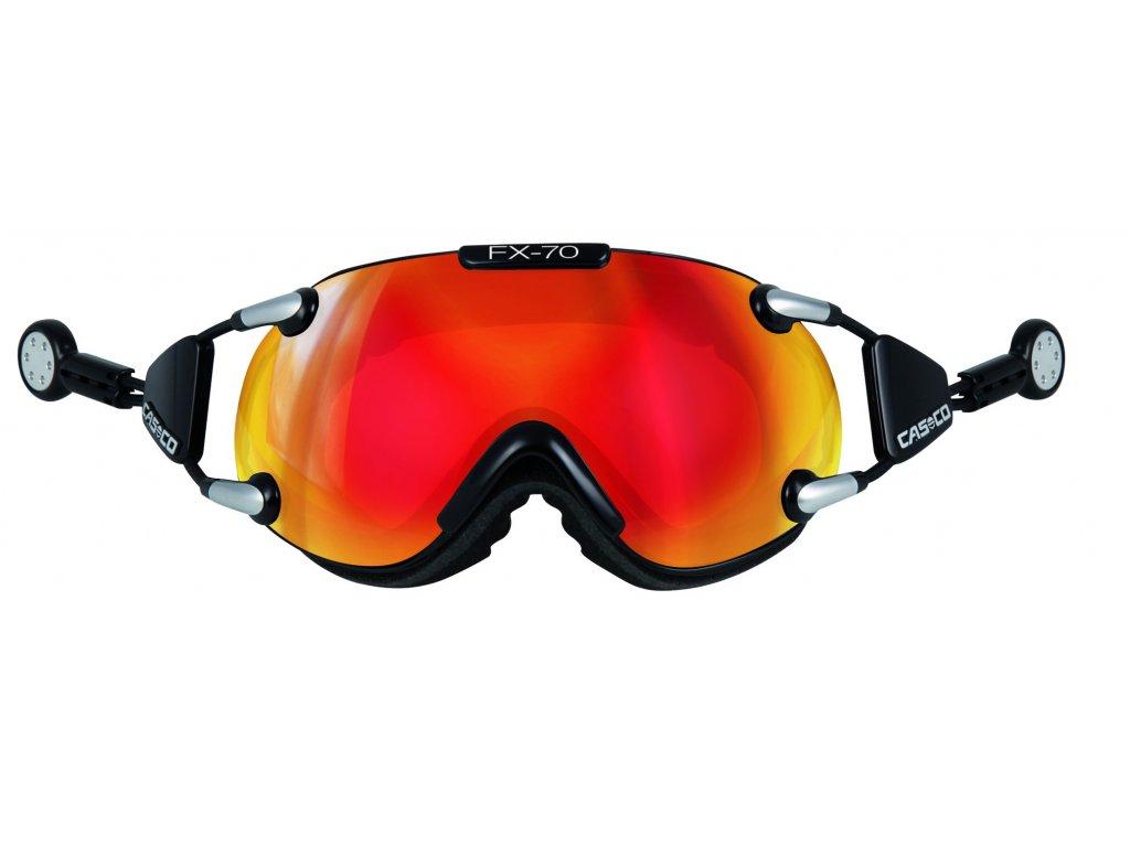 Brýle Casco FX70 CARBONIC, black/orange