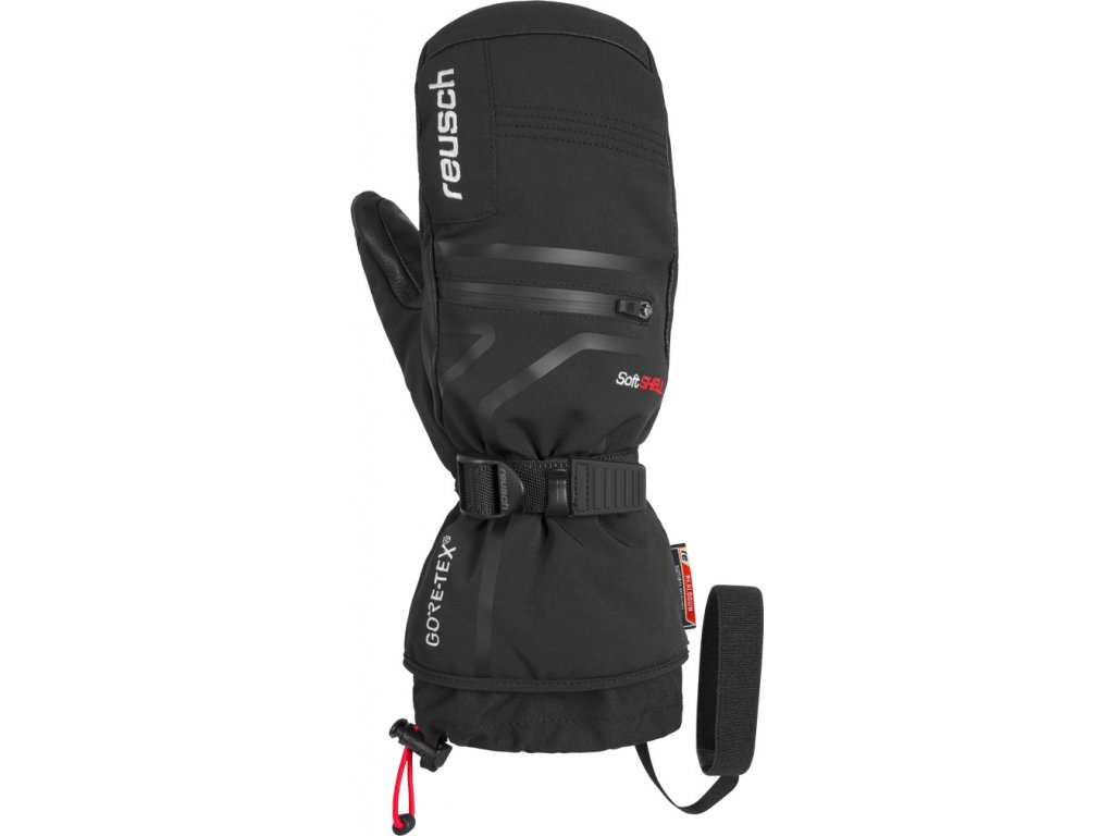 Pánské rukavice palcové Reusch DOWN SPIRIT GTX® MITTEN, black/white