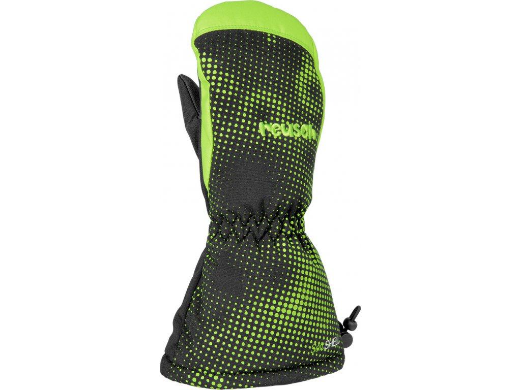 Rukavice palcové Reusch MAXI R TEX® XT MITTEN black neon green 1