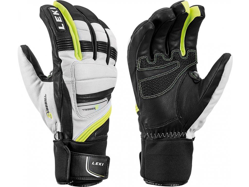 Pánské rukavice Leki GRIFFIN PRIME S, white/black/yellow