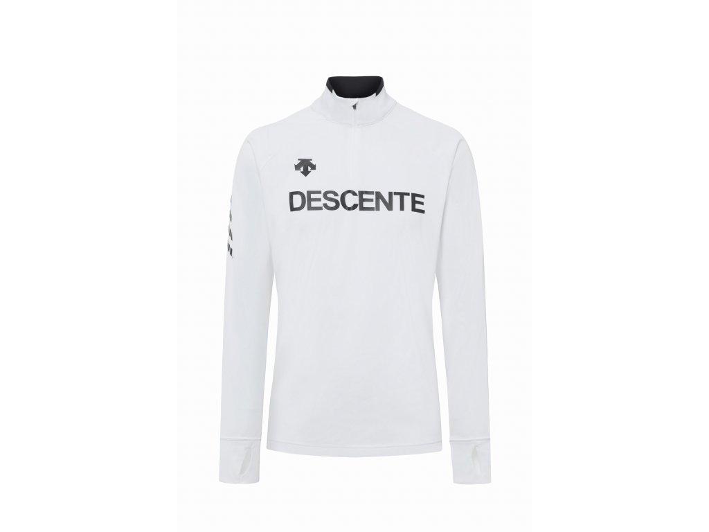 Pánský rolák Descente DESCENTE 1/4 ZIP T-NECK SHIRT, super white