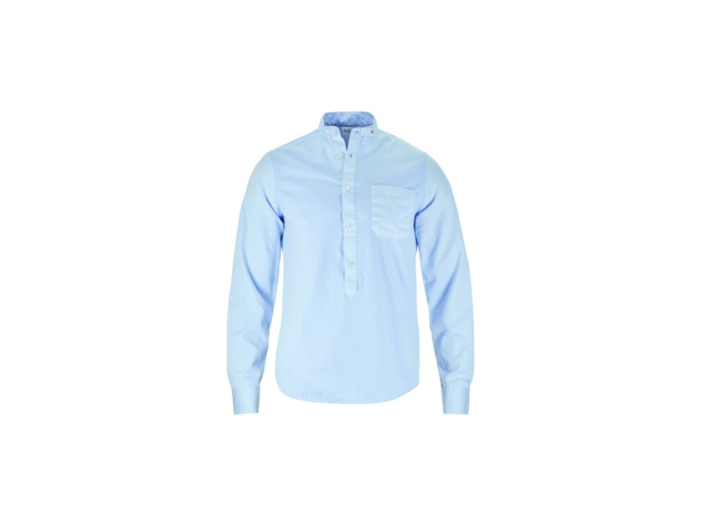 Košile Luis Trenker BENNET MINISTRUKTUR, azurblau