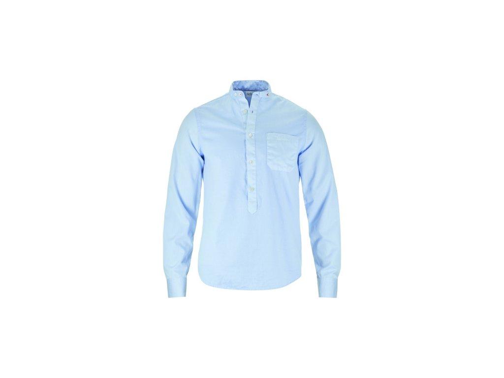 Pánská košile Luis Trenker BENNET MINISTRUKTUR, azurblau