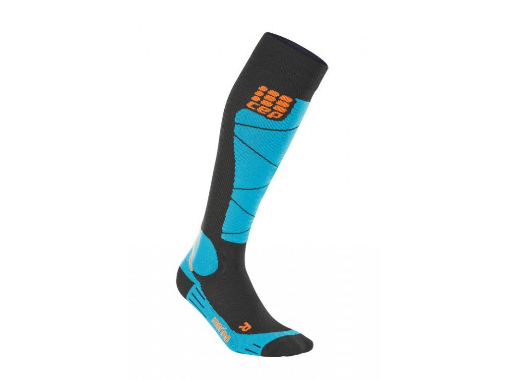 Ponožky Cep SKI MERINO COMPRESSION SOCKS, black azure