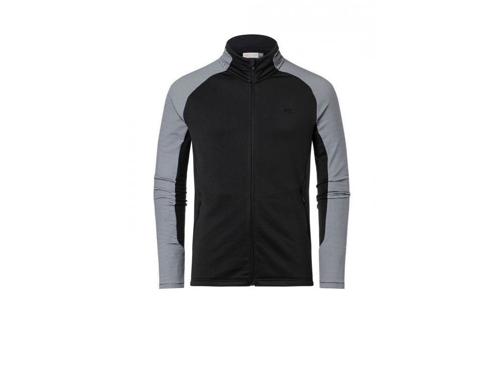 Mikina Kjus DOWNFORCE MIDLAYER JACKET, black