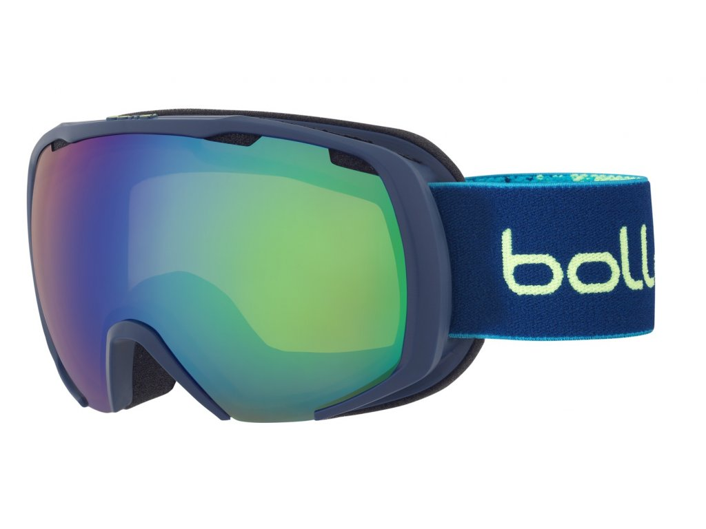 Brýle Bollé ROYAL, matte blue yellow spray, green emerald