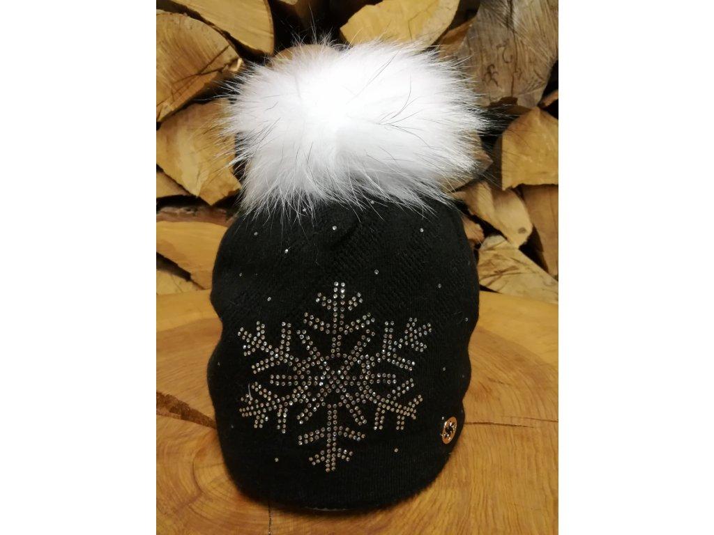 Čepice Jam Granadilla SPARKLE SNOW, black