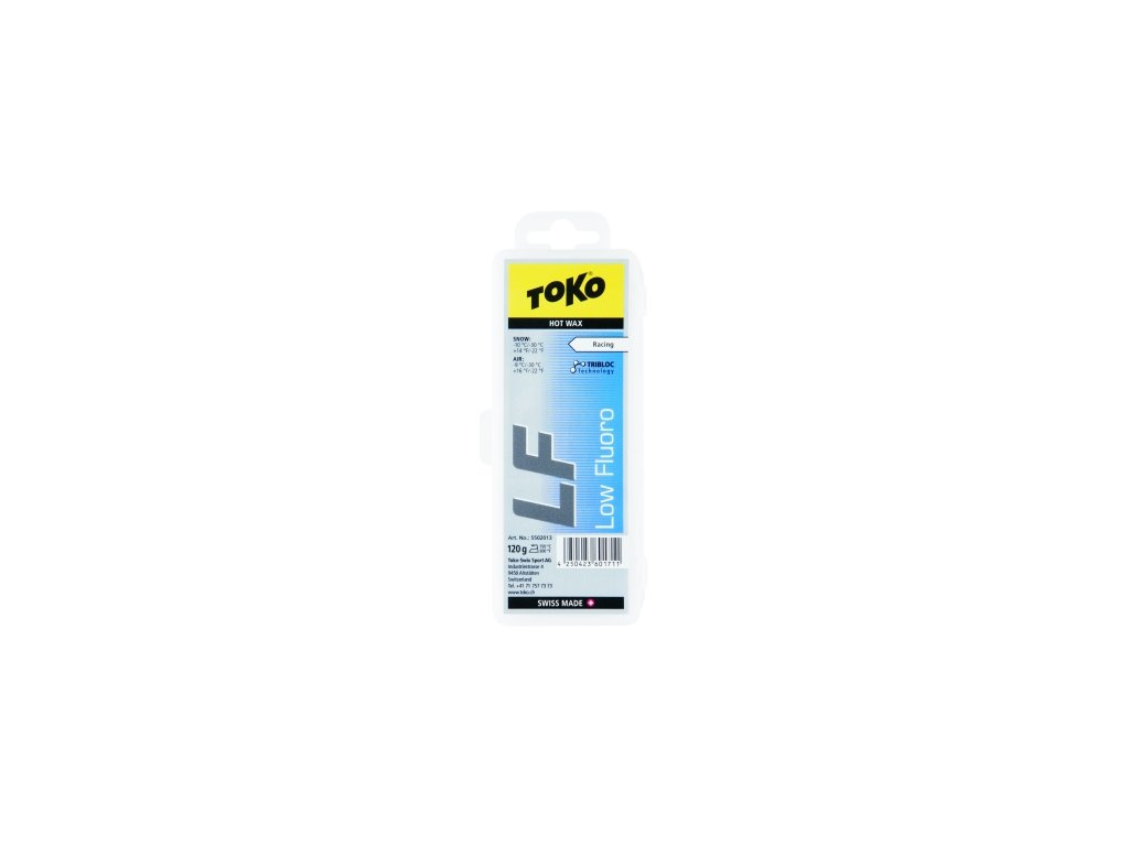 Vosk Toko LF HOT WAX, blue, 40 g