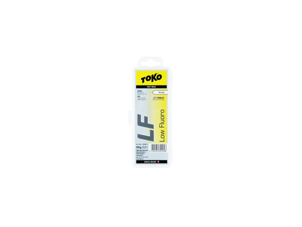 Vosk Toko LF HOT WAX, yellow, 120 g