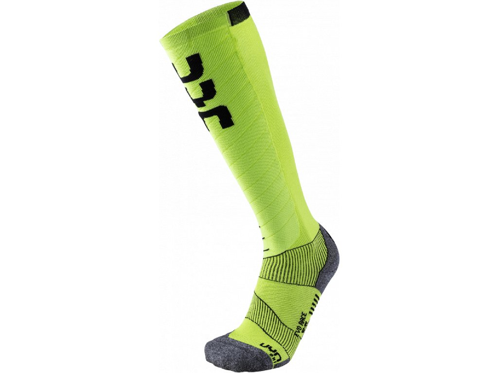 Ponožky UYN SKI EVO RACE MAN, green lime black 01