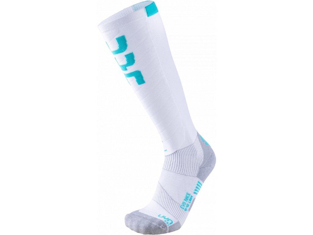 Ponožky UYN SKI EVO RACE LADY, white water green 01