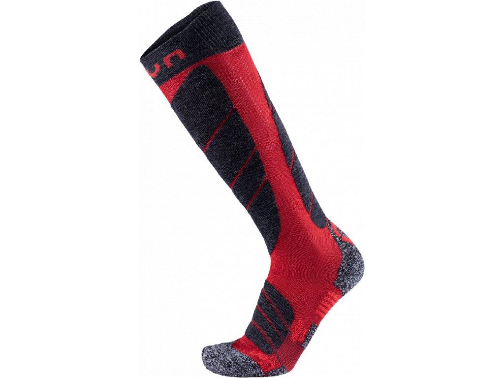 Ponožky UYN SKI MAGMA MAN, dark red anthracite 01