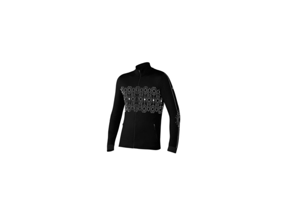 Mikina Newland THERMOREGULATING FULL ZIP, black/white