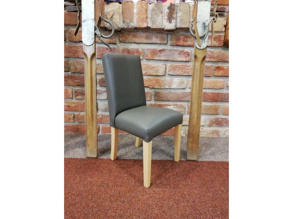 Dětská židlička, šedá kůže