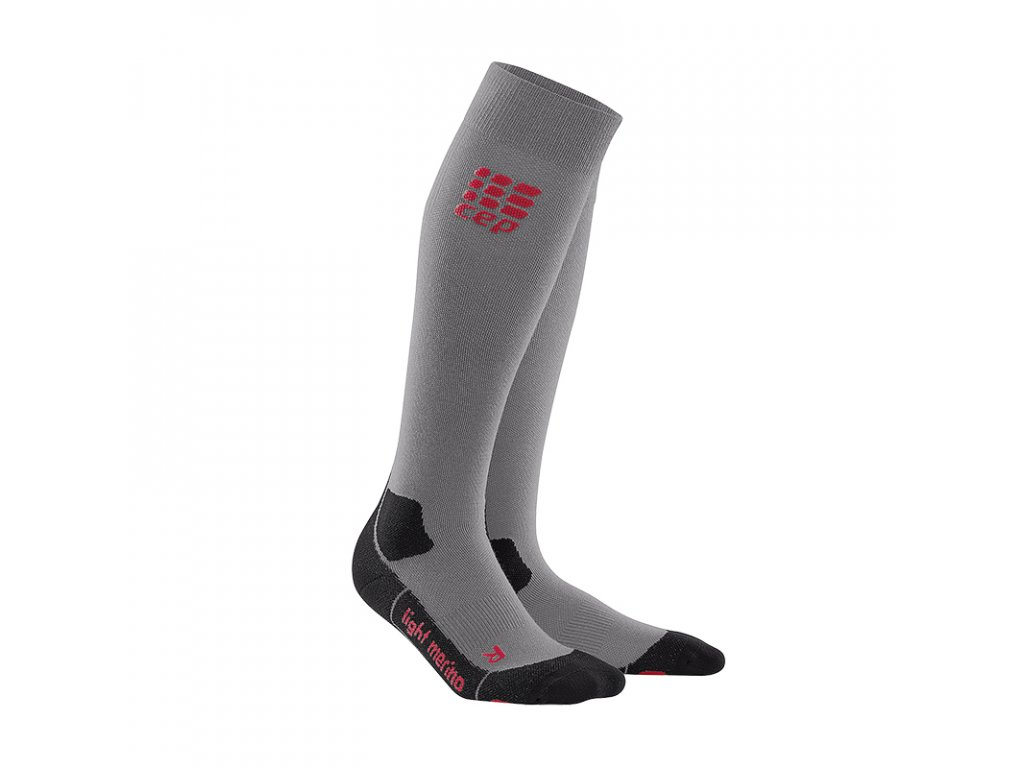 Cep OUTDOOR LIGHT MERINO SOCKS, volcanic dust