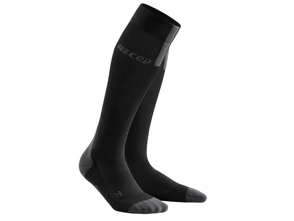 Cep RUN SOCKS 3.0, black dark grey 01