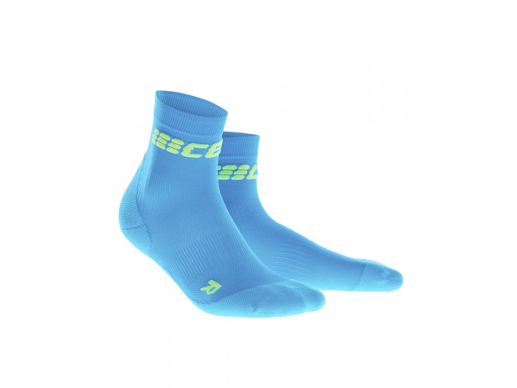 Cep ULTRALIGHT SHORT SOCKS, electric blue green