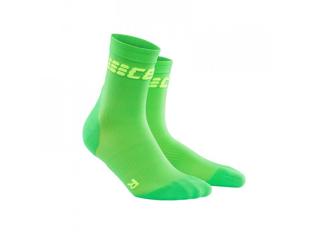 Cep ULTRALIGHT SHORT SOCKS, viper green