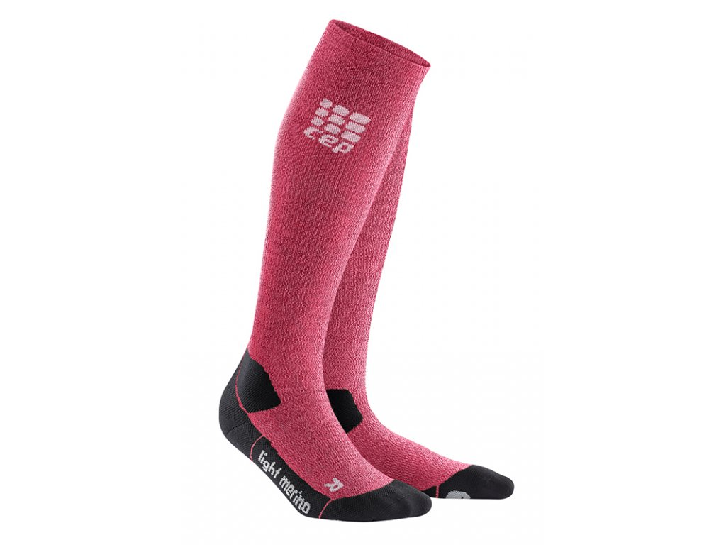 Cep OUTDOOR LIGHT MERINO SOCKS, wild berry