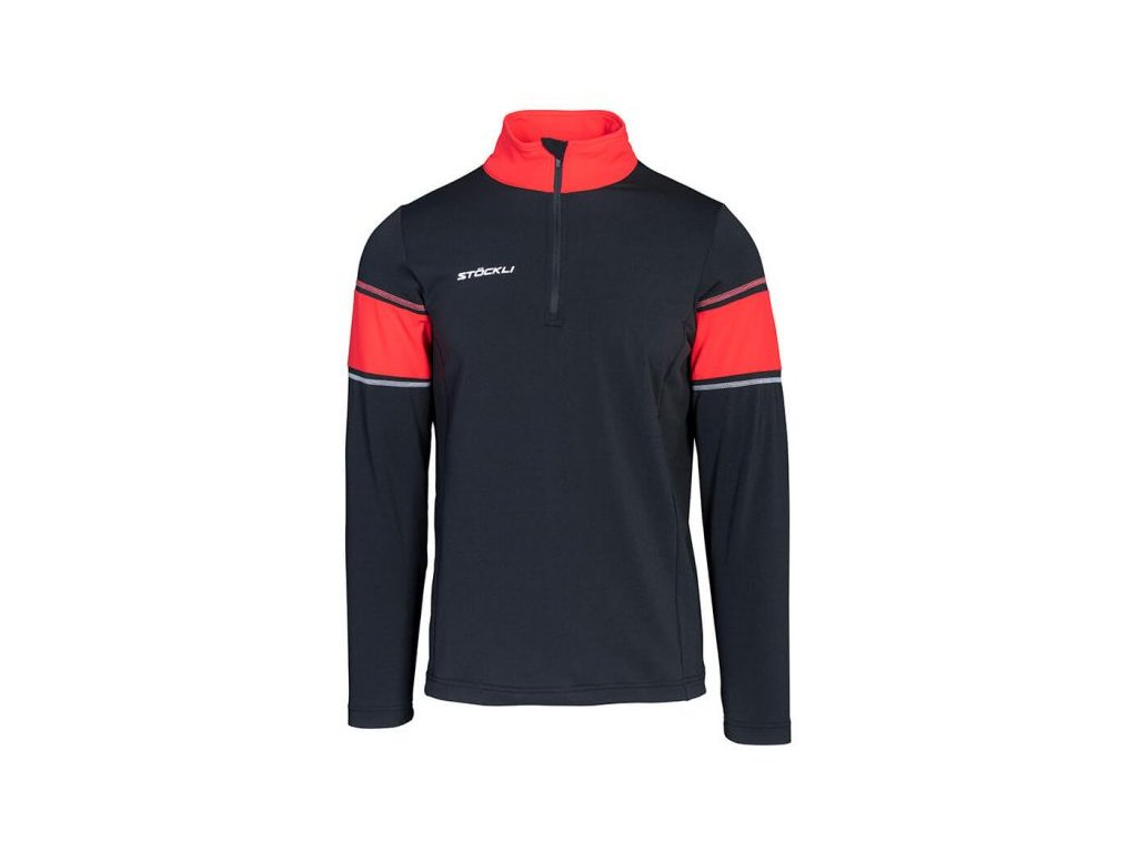 Pánský rolák Stöckli FUNCTIONAL SHIRT, black/red