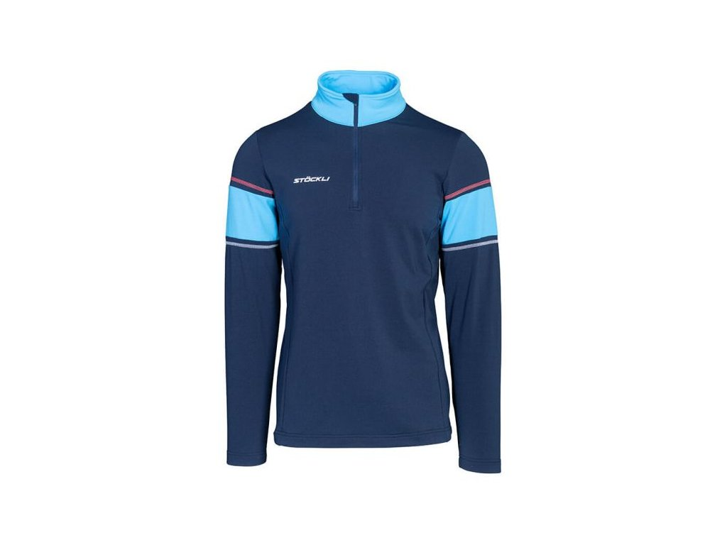 Rolák Stöckli FUNCTIONAL SHIRT, navy/light blue