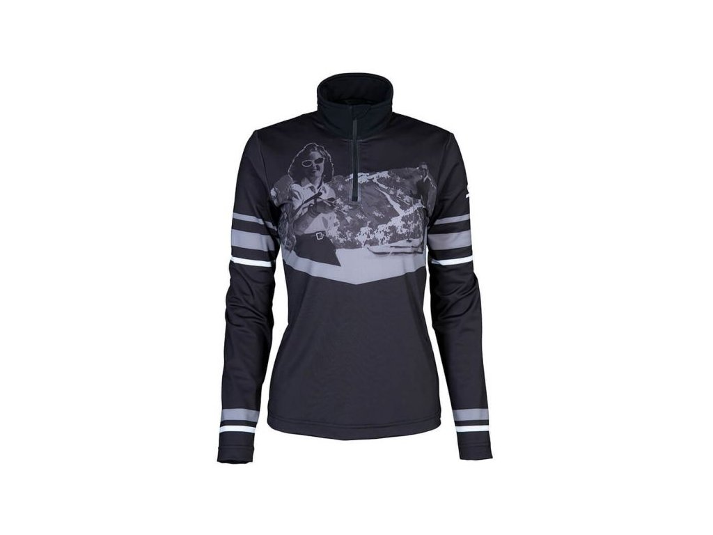 Rolák Stöckli FUNCTIONAL SHIRT RETRO, black