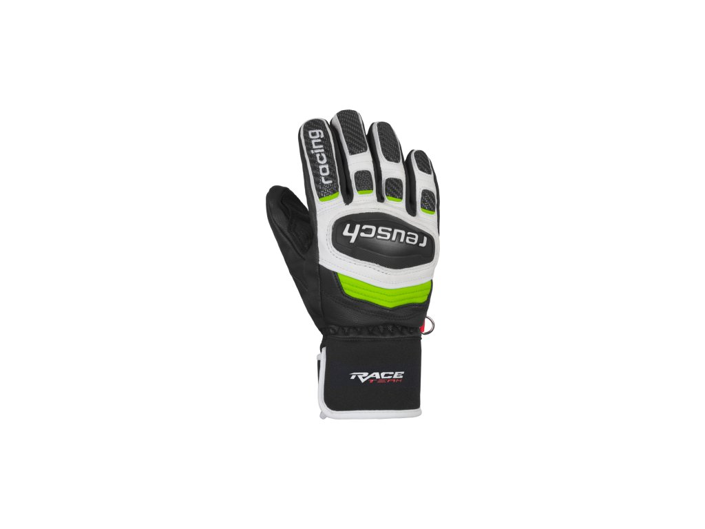 Rukavice Reusch RACE TEC 18 GS JUNIOR, black white neon green 01
