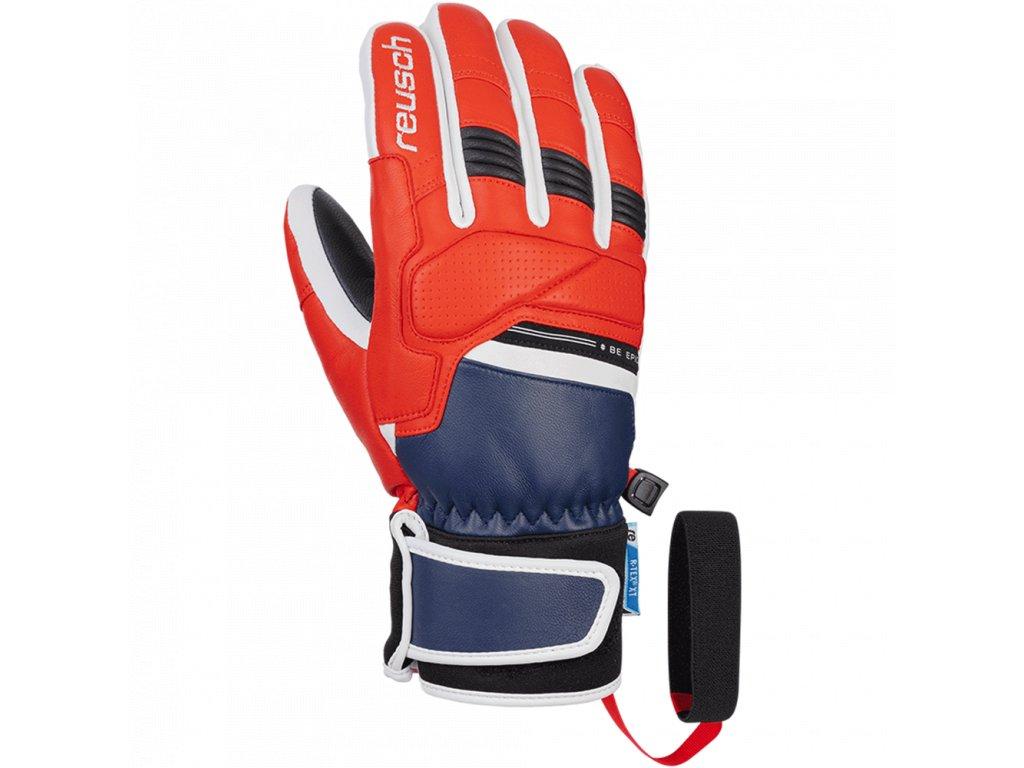 Pánské rukavice Reusch BE EPIC R-TEX® XT, dress blue/fire red
