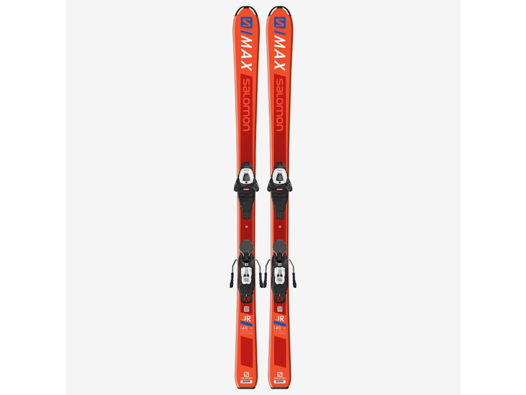 Lyže set Salomon L S MAX JR M + L6 GW J2 80 orange 01
