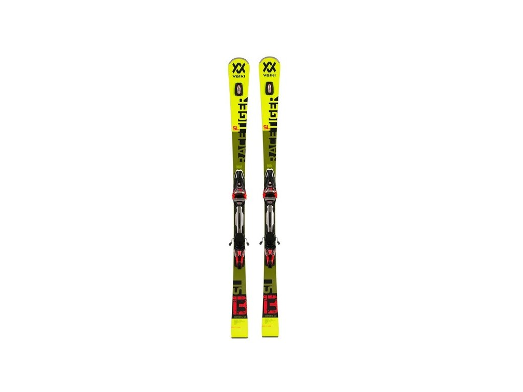 Lyže set Völkl RACETIGER SL, yellow + rMotion2 12 GW blackred