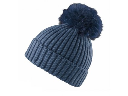 Čepice Mountain Force ALMOND BEANIE, indigo blue
