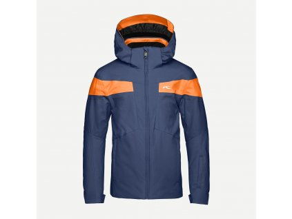 Bunda Kjus BOYS CORBET JACKET, atlanta blue orange