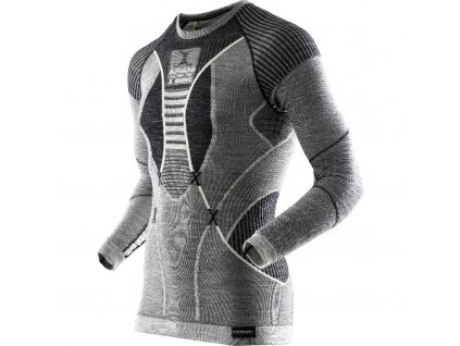 X Bionic APANI LONG ROUND NECK MAN black grey ivory