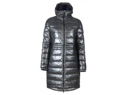 Kabát SKHOOP LONG DOWN HOODIE, metallic grey
