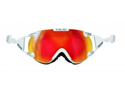 Brýle Casco FX70 CARBONIC white orange