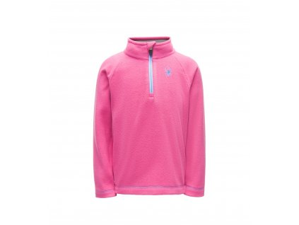 Dětský rolák Spyder BITSY SPEED FLEECE TOP, pin/blu