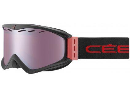 Brýle Cébé INFINITY OTG, matt black red, light rose flash mirror cat.2