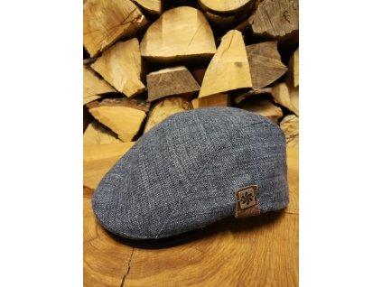 Čepice Jam Granadilla FLAT CAP DENIM, blu navy
