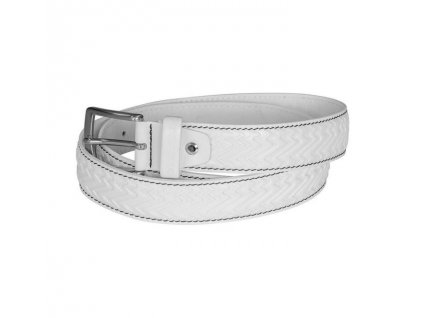 Pásek Stöckli LADY BELT LEATHER, white