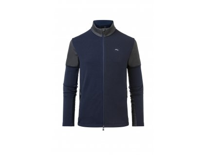 Pánská mikina Kjus AVERS MIDLAYER JACKET, atlanta blue melange/black